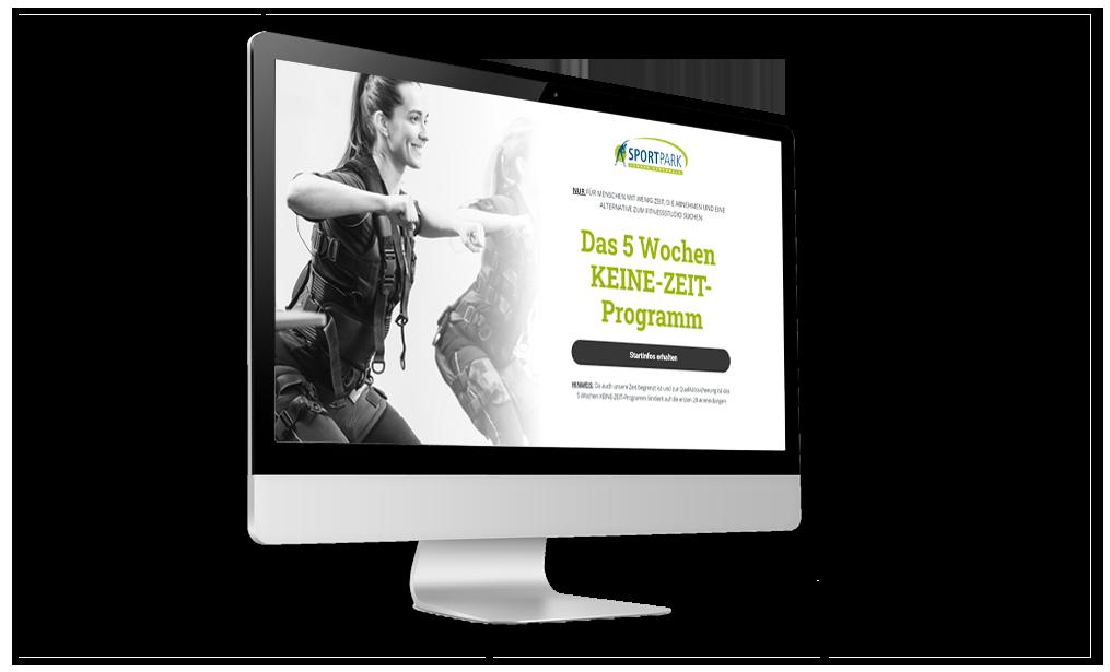 Online Marketing Strategie für Fitnessstudio Bild Keine zeit Studie
